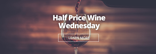 Half Price Wine Wedneday