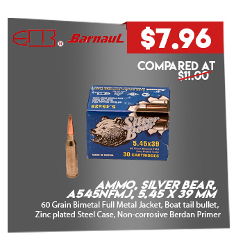 Ammo, Silver Bear, A545NFMJ, 5.45 X 39 mm