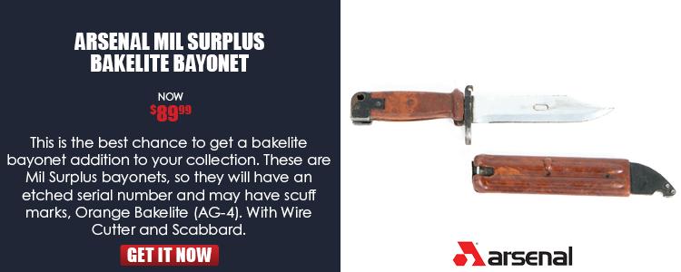 Bulgarian Mil Surplus Bakelite Bayonets
