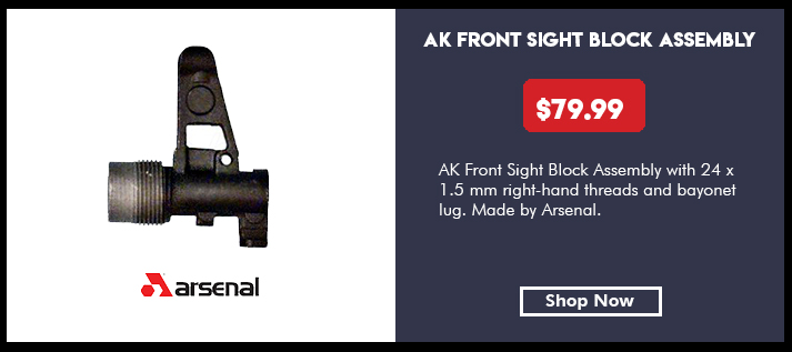 FSB AK-74 AK-100, 24 x 1.5 mm Right Hand threads, No Plunger Pin, Bayonet Lug, Arsenal Bulgaria