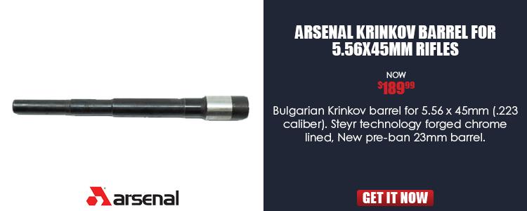 Bulgarian Krinkov Barrel for 5.56 x 45mm (.223 Caliber)