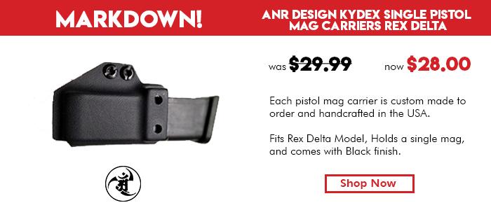 ANR Design Kydex Single Pistol Mag Carriers Rex Delta