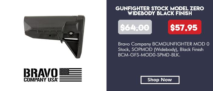 BCM GUNFIGHTER STOCK MOD0 SOPMOD BLK