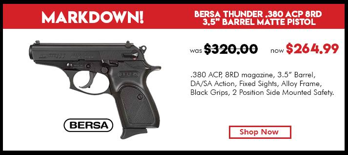 Bersa .380 D.A. Matte - 8 Round Pistol