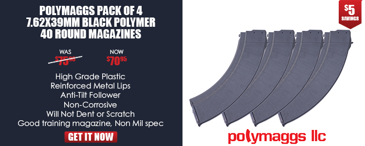 Magazine, 7.62x39mm, 40-round, polymer, Bulgarian Pack of 4