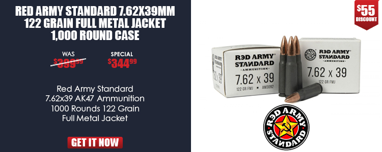 Red Army 7.62x39MM 122 gr. FMJ