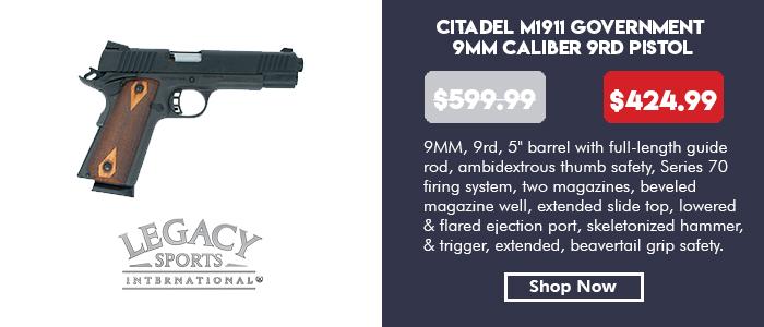 Citadel 1911 Government 9mm 9rd Pistol