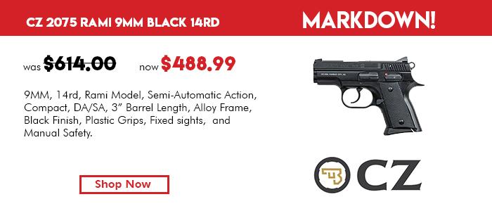 CZ 2075 Rami 9mm Black 14rd