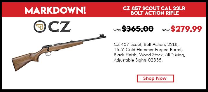 CZ 457 Scout Cal 22LR Bolt Action Rifle