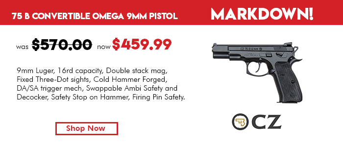 CZ 75 B Ω Convertible (Omega) 9 mm Pistol - 91136