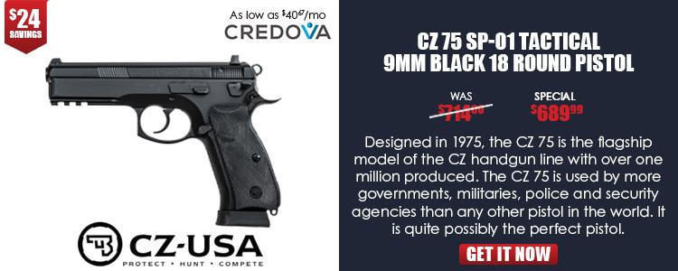 CZ 75 SP-01 TACTICAL, 9mm, black, 3 dot tritium sights - 18 rd mags