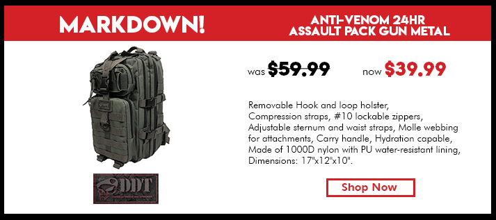 Anti-Venom 24 HR Assault Pack, Gun Metal