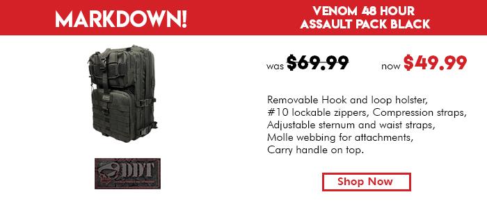 DDT Venom 48 Hour Assault Pack Black