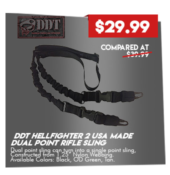 DDT Hellfighter 2 USA Made Dual Point Rifle Sling