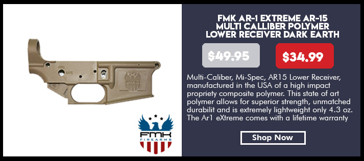 FMK AR-1 Extreme AR-15 Multi Caliber Polymer Lower Receiver Dark Earth