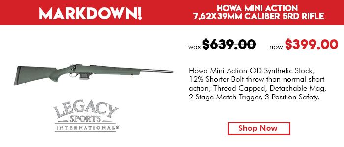 Howa Mini Action 7.62x39MM Caliber 5rd Rifle OD Green