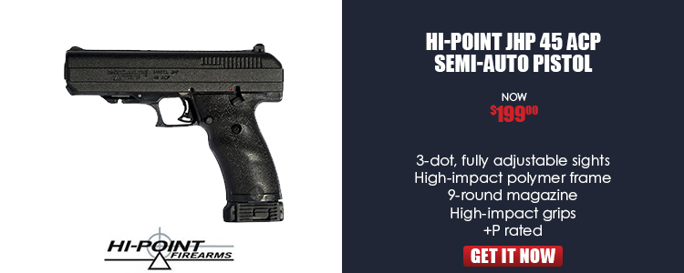 HI-POINT JHP 45ACP pistol 9rd 4.5in black