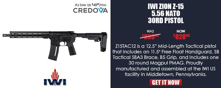 IWI ZION Z-15 5.56 NATO Tactical Pistol