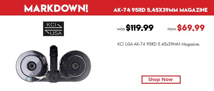 KCI USA AK-74 95rd 5.45x39mm Magazine