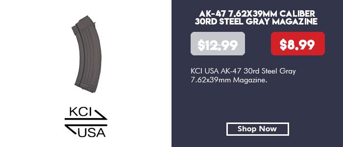 KCI USA AK-47 30rd Steel Gray Magazine 7.62x39mm