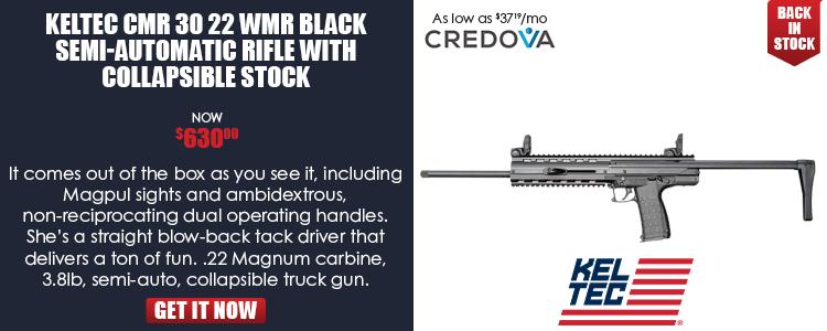 CMR-30 .22 WMR Semi Auto Rifle 16-in Barrel 30 Rounds Collapsible Stock Matte Black Finish