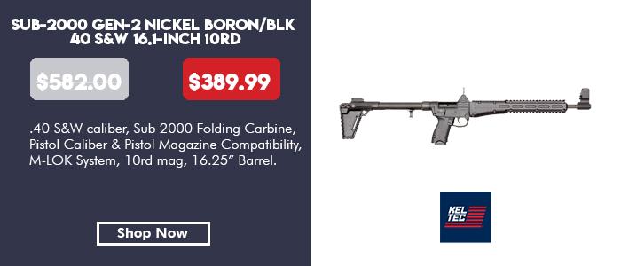 SUB-2000 Gen-2 Nickel Boron/Black 40 S&W 16.1-inch 10rd Uses S&W M&P magazines