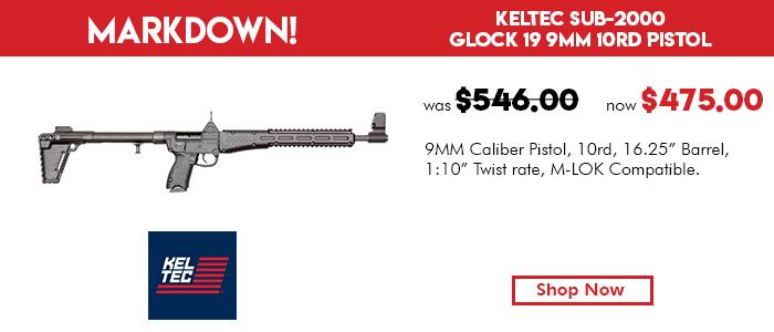 KelTec SUB-2000 Glock 19 9mm 10rd M-LOK Compatible