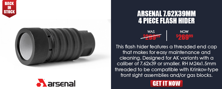 Arsenal 4 Piece Flash Hider 7.62x39