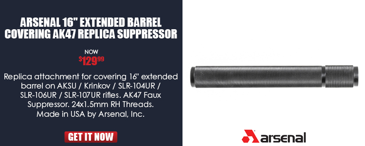 Arsenal Replica Suppressor Attachment for Krink Rifles