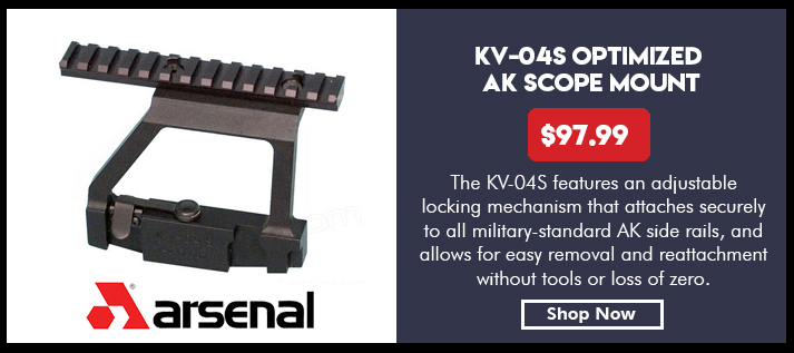Scope mount with Picatinny rail, side attaching for all AK rifles except AKSU, 13 rails, US made