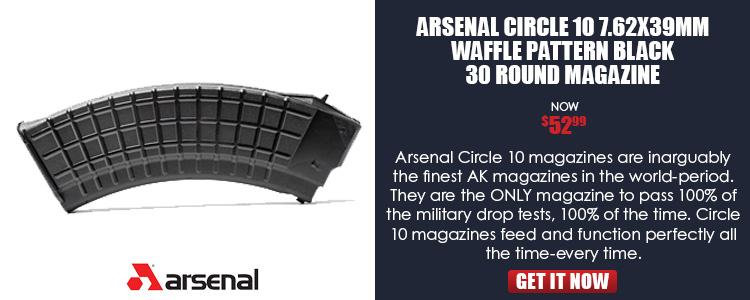 AK-47 Magazine 7.62x39 Caliber 30 Round Circle 10 Waffle Pattern
