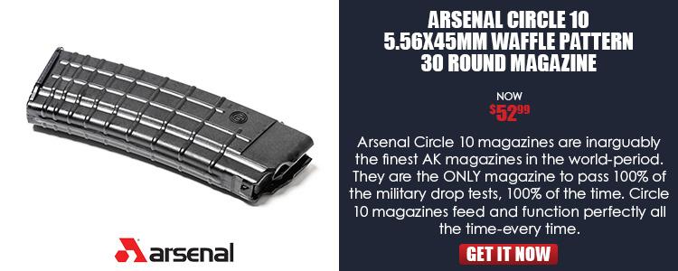AK-74 Magazine 5.56x45 Caliber 30 Round, Circle 10