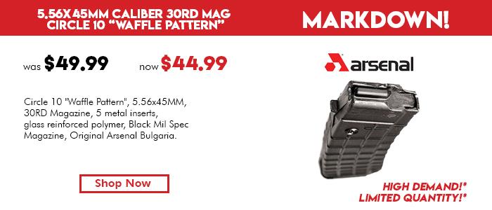 AK-74 Magazine 5.56x45 Caliber 30 Round, Circle 10 Waffle Pattern