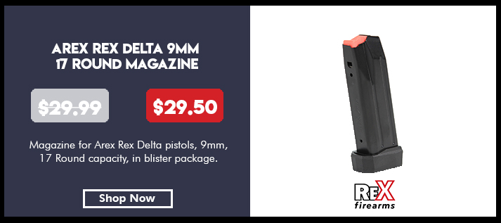 Magazine, for Arex Rex Delta pistols, 9mm, 17 rounds, in blister package