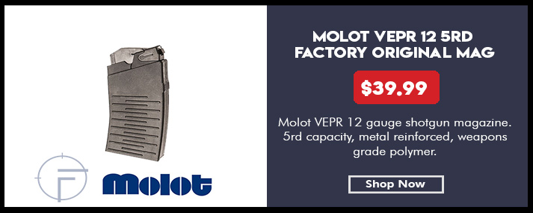 Magazine for Vepr 12 shotgun, 12-gauge, 5 rounds