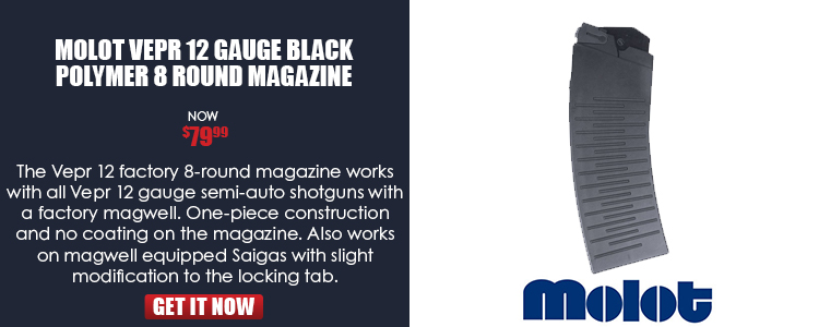 Magazine, for Vepr 12 shotgun, 12-gauge, 8 rounds -Factory magazine