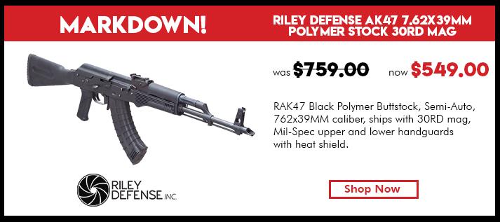 Riley Defense RAK47 Polymer 7.62x39mm Caliber 30rd Mag