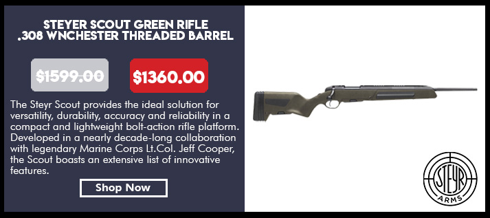 Steyr Scout Green Rifle, .308 Winchester Threaded Barrel
