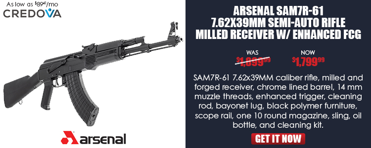 Arsenal SAM7R-61 7.62x39mm Semi-Automatic Rifle Enhanced FCG