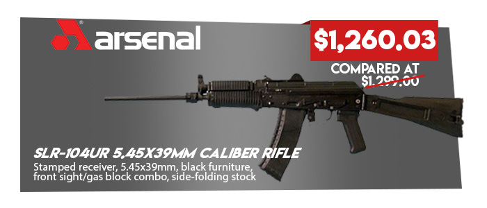 Arsenal SLR-104UR (SLR104-51) 5.45x39mm Caliber Rifle (with Krink Gas Stamped receiver)