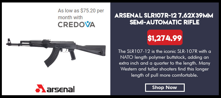 Arsenal SLR-107R AK47 Rifle 7.62x39 Semi-Auto Stamped Receiver NATO Length Polymer Stock