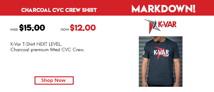 K-Var T-Shirt Charcoal premium fitted CVC Crew