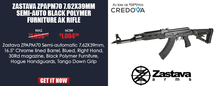 ZPAPM70 AK rifle  Polymer furniture black, Hogue HG, TD Grip, Bulged T.1.5mm rec,Chrome lined barrel