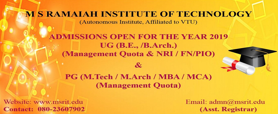 Phenomenal Ramaiah Institute Of Technology Bengaluru Best Image Libraries Weasiibadanjobscom