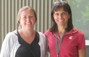 Drs. Merete Halkjaer Olesen (right) and Lindsey du Toit (left)
