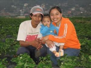 A farming family.
