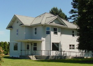 Exterior of the Olson Heritage Farmhouse