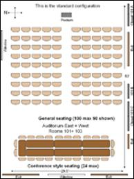 Sakuma Auditorium standard configuration (full room)