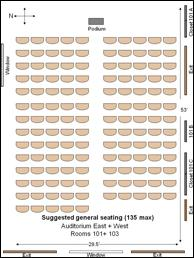 Sakuma Auditorium General Seating configuration