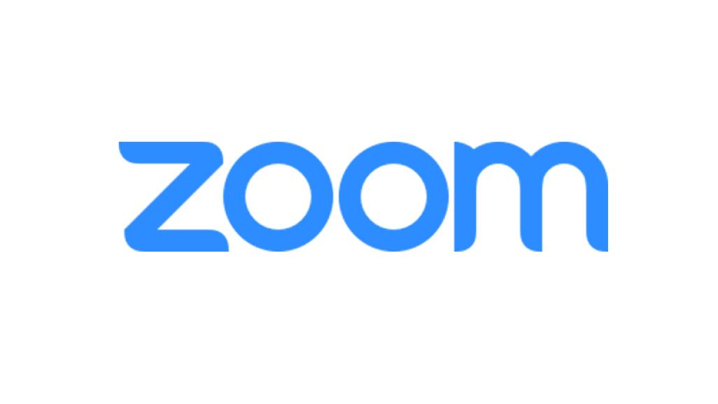 "Blue text reading ""zoom"""